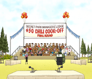 S7E19.142 Secret Park Managers' Lodge Chili Cook-Off Final Round