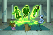 S4E10-The three ghosts coming out of the floor