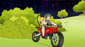 S8E19.404 Sally on a Dirt Bike