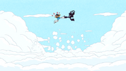 S6E24.290 Hyperduck and Moto-Goosowary Running Above the Clouds