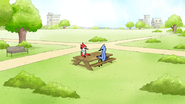 S6E11.117 Mordecai Meeting with Margaret at the Park