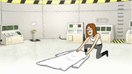 S7E32.134 Pam Laying Down Her Lab Coat