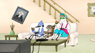 S6E21.104 Mordecai, Rigby, and Party Horse Having a Snack Break