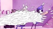 S3E04.356 Mordecai and Skips Getting Sprayed with HFG