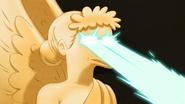 S6E23.119 Giant Winged Dog Statue Laser Eyes