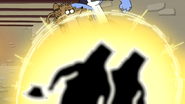 S4E13.202 Mordecai and Rigby Defeating the Twin Guards