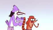 S4E13.259 Mordecai and Rigby Shocked to See Grand Master's True Form