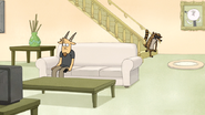 S5E05.059 Rigby Groaning at the Bottom of the Stairs