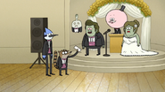 S6E28.092 Rigby Giving the Wedding Day Letter to Muscle Man