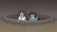 S4E12.188 Muscle Man and Starla Climbing Out of the Crater