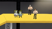 S6E14.137 Muscle Man and Starla Stopped by Two Shirtless Guys