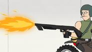 S8E19.416 Sally Using the Flamethrower