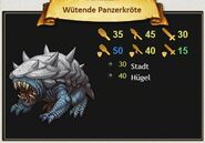 Wütende Panzerkröte