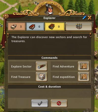 Explorer menu