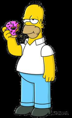 吃着甜甜圈的Homer.png