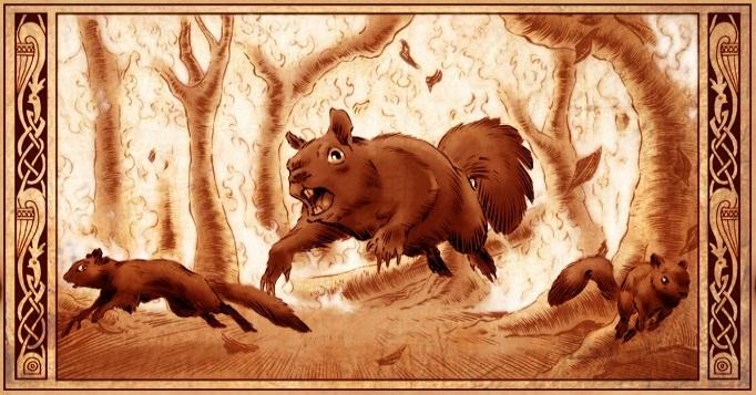 Squirrel Infestation/Burn