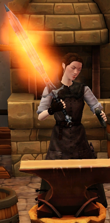 Fiery mithral longsword sharpened by blacksmith.png