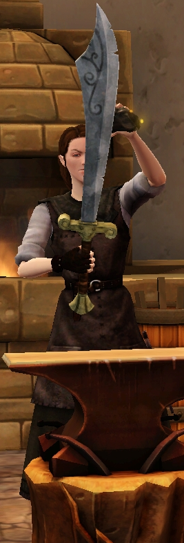 Precise scimitar sharpened by blacksmith.png