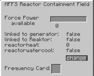 Mffs reactor containment field projector gui