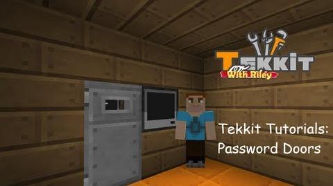 Tekkit Tutorials Password doors