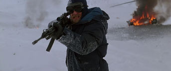 The Norwegian opens fire on the men - The Thing (1982)