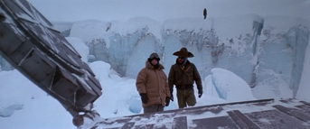 The men walk across the UFO (3) - The Thing (1982)