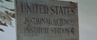 US Outpost 31 Signage - The Thing (1982)