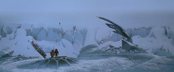 The men walk across the UFO (2) - The Thing (1982)
