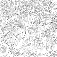 TOG Coloring Book - Celaena at Nehemia's grave