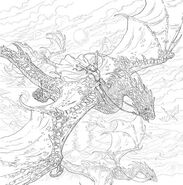 TOG Coloring Book - Asterin and her wyvern