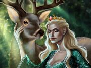 AELIN with a deer