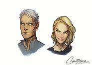 Rowan & Aelin by Charlie Bowater, sketch