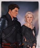 Chaol & Celaena by Merwild, ToG