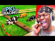 Pig Racing but KSI Cheats the System