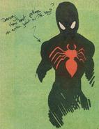 Rick Leonardi Black Suit Spider-Man Concept 2