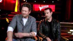 The Voice- BLAKE SHELTON & CARSON DALY Interview