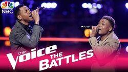 """The Voice 2017 Battle - Chris Blue vs. RJ Collins """"Adorn"""""""