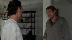 Pete intentando establecer una relación amistosa con Rick