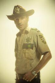 Rick en su atuendo característico de las primeras temporada.