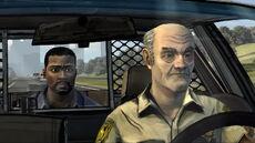 Lee siendo trasportado a la penitenciaria.