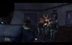 Una secuencia QTE en el juego.