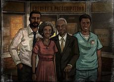 Lee y su familia en una fotografía.