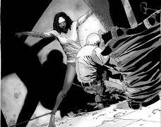 Michonne a punto de ser violada por El Gobernador