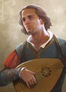 Dandelion the bard by cg warrior-d60khrv