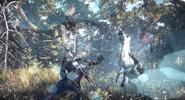 Aard Sign Spell Rider Magic Combat Geralt Witcher 3