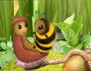 Bee and slug are cute