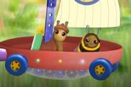 Slug and Bee on Flyboat