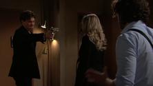 Zack holds a gun on Abby & Scott