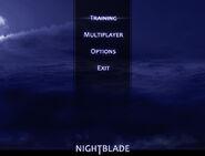 Nightblade by Black Cat Games - alpha promo screenshot (Menu)