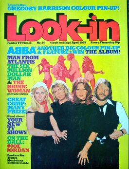1978-04-01 Look-In 1 cover ABBA